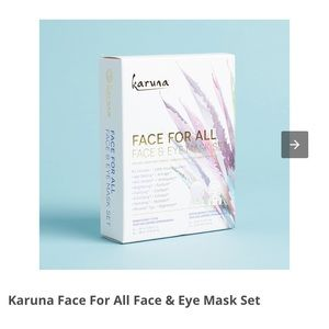 New Karuna face for all face and eye mask set